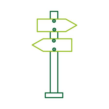 Hölzerne leere Warnschild Bord Vektor-illustration Standard-Bild - 86002561