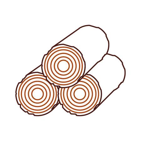キャンプ木材木材薪切り株ベクトル図 写真素材 - 86002576