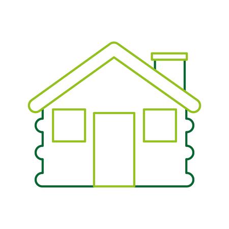 Station de bois cabane de la maison camp extérieur illustration vectorielle Banque d'images - 86002577