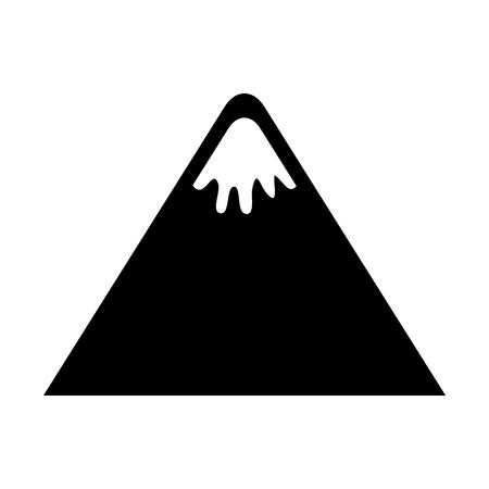 山ピーク自然雪キャンプ アイコン ベクトル図  イラスト・ベクター素材