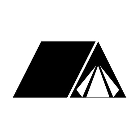 アクティブな旅行休暇ベクトル イラストの観光キャンプ テント