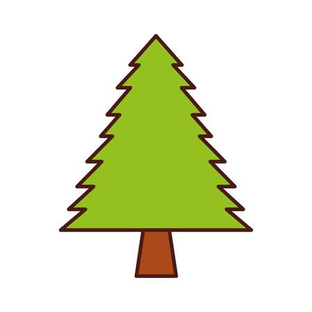 松木森林自然の植物画像ベクトル図  イラスト・ベクター素材