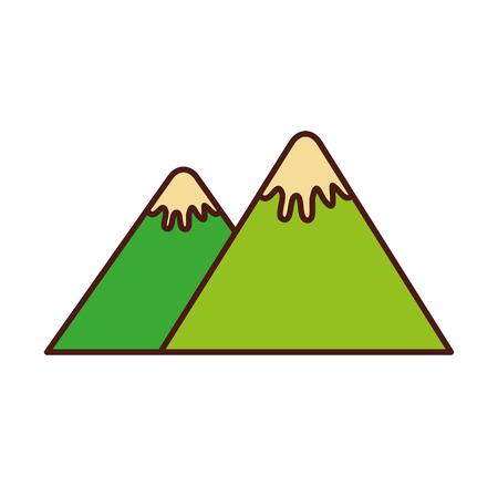 산 피크 자연 눈 캠프 아이콘 벡터 일러스트 레이션
