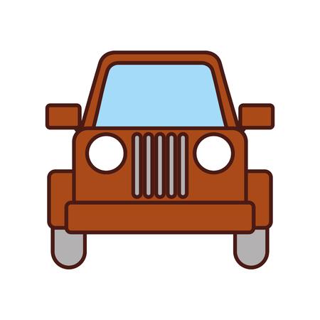 ベクトル図をキャンプのジープ車の車両輸送  イラスト・ベクター素材