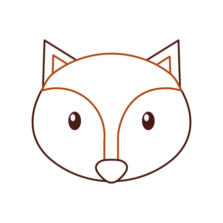 forest fox animal wildlife nature fauna vector illustration