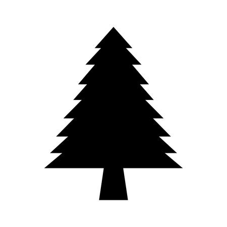 Dennenboom bos natuurlijke flora afbeelding vectorillustratie Stockfoto - 86002615