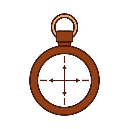 compass symbol of tourism adventure travel camping vector illustration Illustration