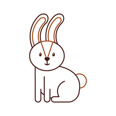 forest rabbit animal wild fauna natural vector illustration
