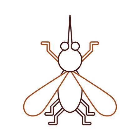 ハウスフライ昆虫と動物の邪魔漫画