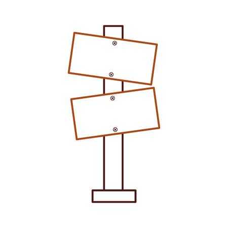 Hölzerne leere Warnschild Bord Vektor-illustration Standard-Bild - 86002639