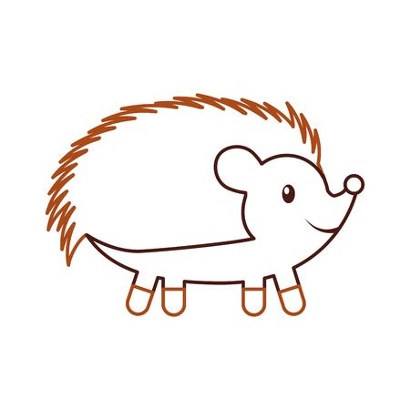 bos egel dierlijke wilde fauna natuur vectorillustratie Stock Illustratie