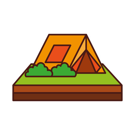 touristic camping tent for active travel vacations vector illustration Ilustracja