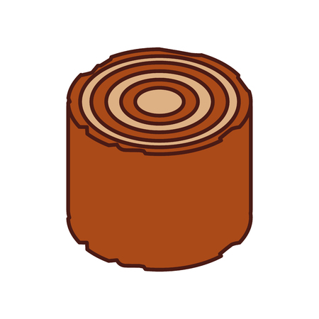 houten camping materiaal houthout stomp vectorillustratie Stock Illustratie