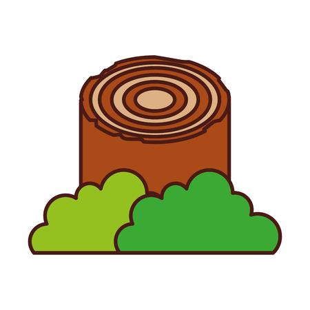 Bois camping matériel bois bois de chauffage souche vector illustration Banque d'images - 86002654