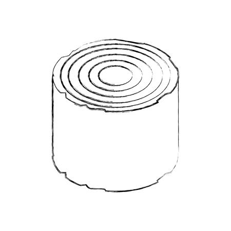 Bois camping matériel bois bois de chauffage souche vector illustration Banque d'images - 86002666