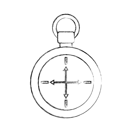 compass symbol of tourism adventure travel camping vector illustration Ilustração