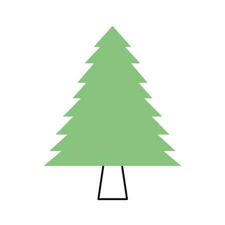 소나무 숲 자연 식물의 단풍 벡터 일러스트 레이션 일러스트