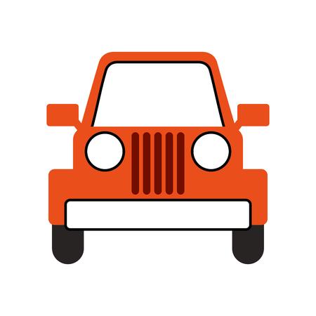 ジープ車車両輸送キャンプアドベンチャーベクターイラスト