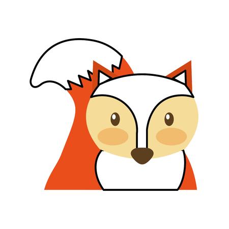 forest fox animal wildlife nature fauna vector illustration