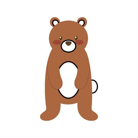 森クマ動物捕食者野生哺乳動物ベクトル図  イラスト・ベクター素材