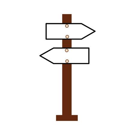 wooden blank warning sign board vector illustration 向量圖像