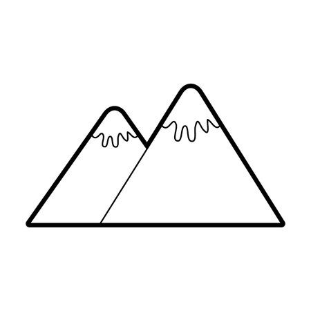 Montagne pic nature neige camp icône illustration vectorielle Banque d'images - 86002760