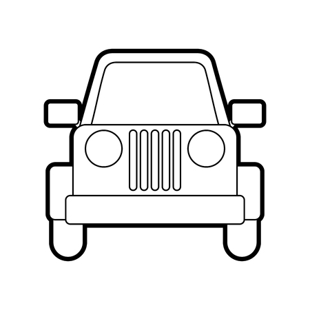 jeep car vehicle transport camping adventure vector illustration