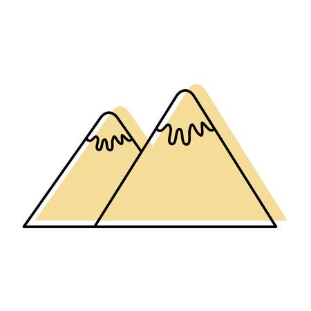 mountain peak nature snow camp icon vector illustration Illustration