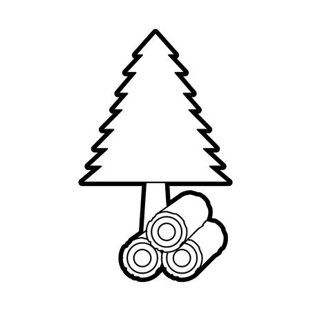 松の森天然植物の葉ベクトルイラスト  イラスト・ベクター素材
