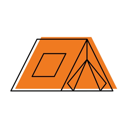 touristic camping tent for active travel vacations vector illustration Ilustração