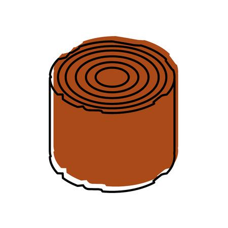 キャンプ木材木材薪切り株ベクトル図  イラスト・ベクター素材
