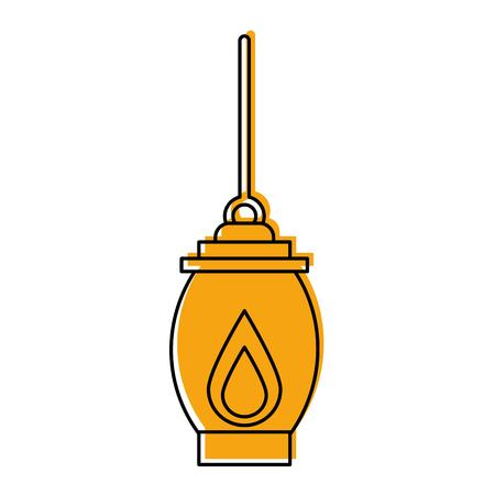 kerosine lamp licht camping antiek element vector illustratie