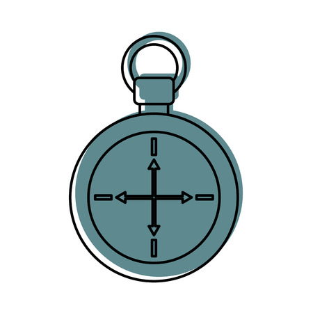 compass symbol of tourism adventure travel camping vector illustration 向量圖像