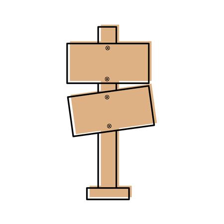 wooden blank warning sign board vector illustration Illustration