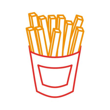 フライド ポテト ファーストフードのポテト新鮮なベクトル図