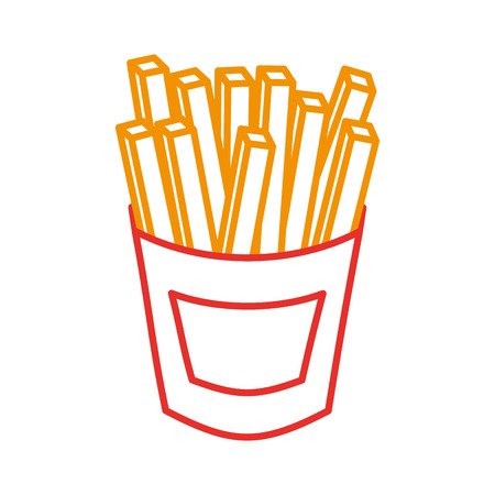 french fries fast food potato fresh vector illustration Illustration