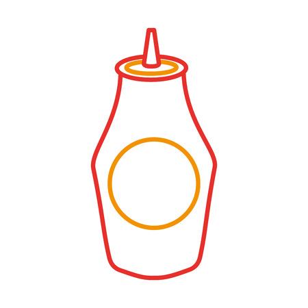 ケチャップ ソース成分ファーストフード ベクトル図のボトル  イラスト・ベクター素材