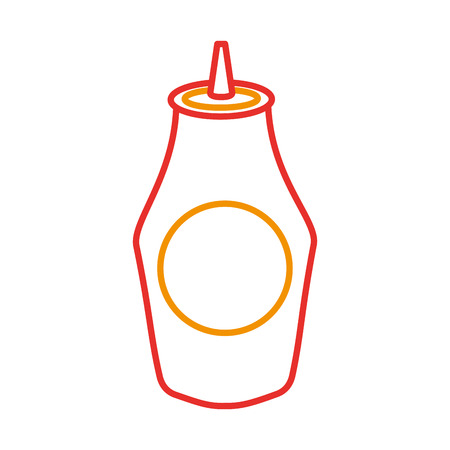 bottle of ketchup sauce ingredient fast food vector illustration
