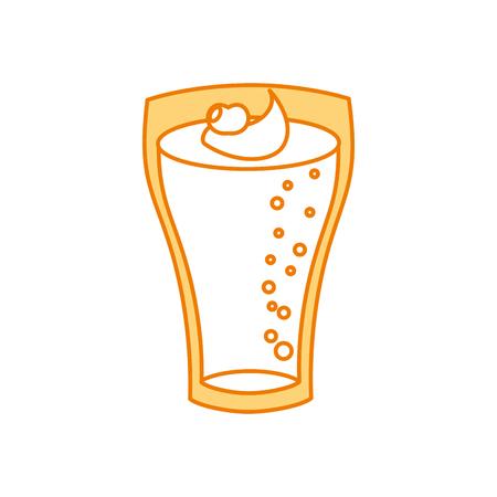 Milchshake mit Sahne in Glas Erdbeer-Drink-Vektor-Illustration Standard-Bild - 86002851