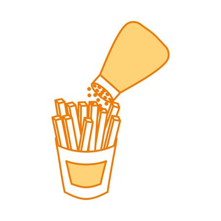 감자 튀김 패스트 푸드 감자 신선한 벡터 일러스트 레이션