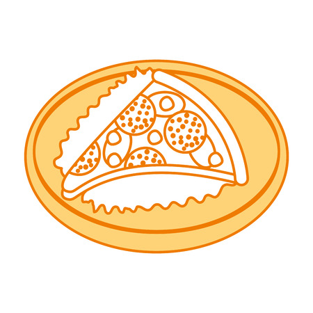 ファーストフード ピザ チーズ ピーマンおいしいベクトル イラスト