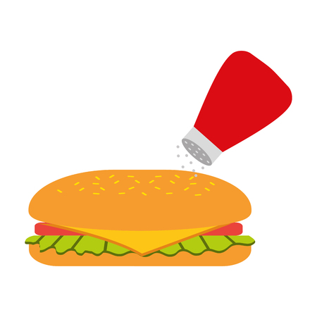 Fast-Food-Sandwich-Menü Restaurant-Mittagessen-Vektor-illustration Standard-Bild - 86059393