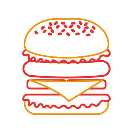 Fast food hamburger gustoso deliziosa illustrazione vettoriale pranzo pranzo Archivio Fotografico - 86059412