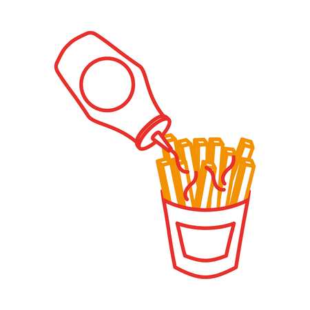 french fries fast food potato fresh vector illustration Imagens - 86059415