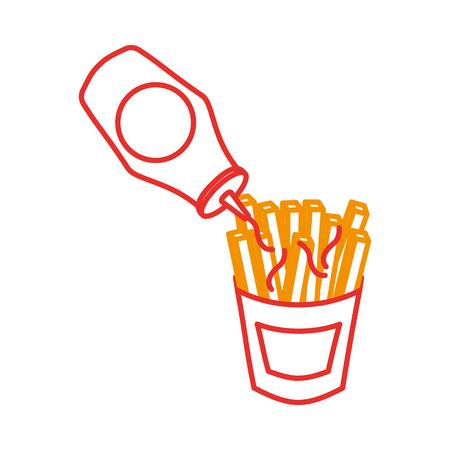 Pommes frites Fastfood Kartoffel frische Vektor-illustration Standard-Bild - 86059415