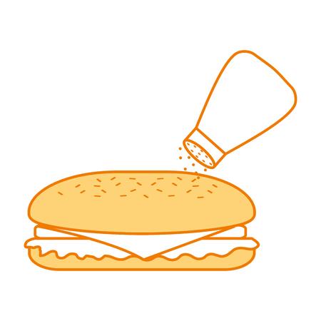 fast food sandwich menu restaurant lunch vector illustration Ilustração