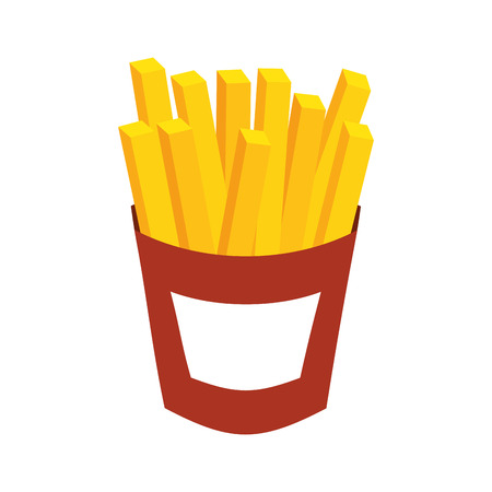 french fries fast food potato fresh vector illustration Imagens - 86059423