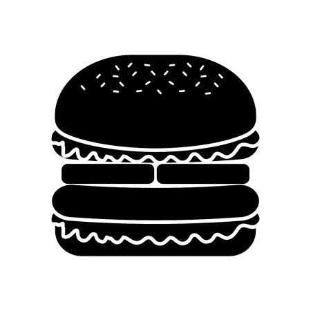 Burger Fastfood lecker lecker Snack Mittagessen Vektor-Illustration Standard-Bild - 86059440