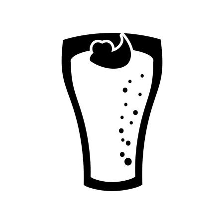 Milkshake con crema in vetro fragola drink illustrazione vettoriale Archivio Fotografico - 86059483