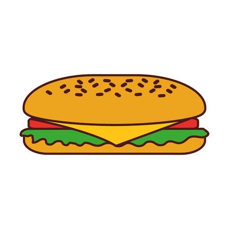 패스트 푸드 샌드위치 메뉴 레스토랑 점심 벡터 일러스트 레이션